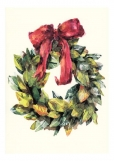 Magnolia Wreath Christmas Card